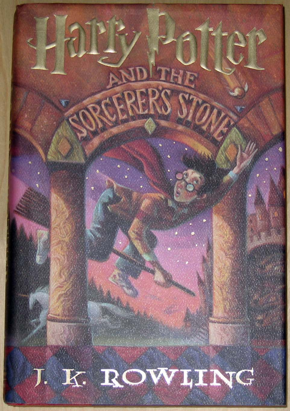 Harry Potter Book Cover Front And Back : Harry potter and the sorceror s stone